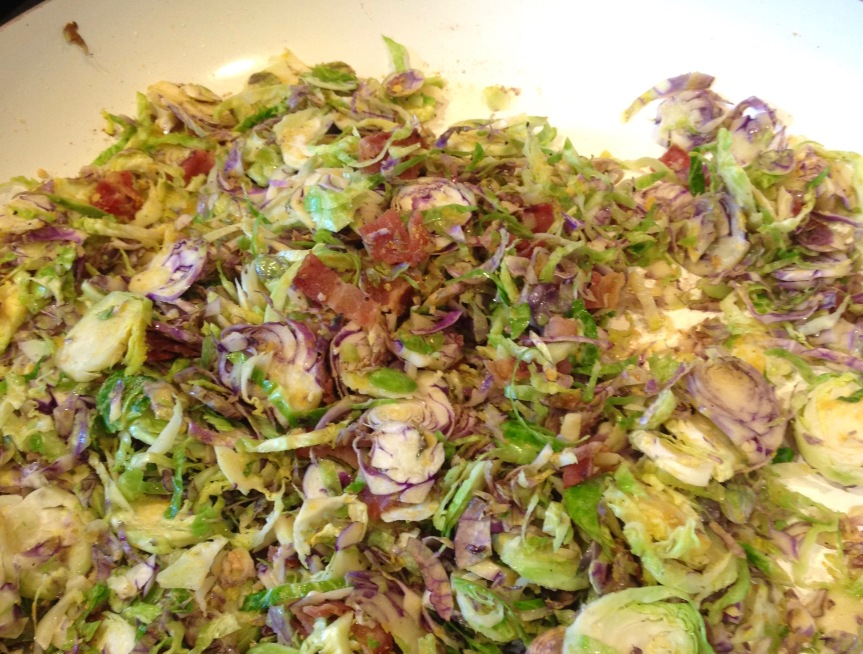 """Brussels Sprouts """"Parmesan"""" withBacon"""